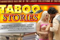Screenshot of Taboo Stories. The erotic story library